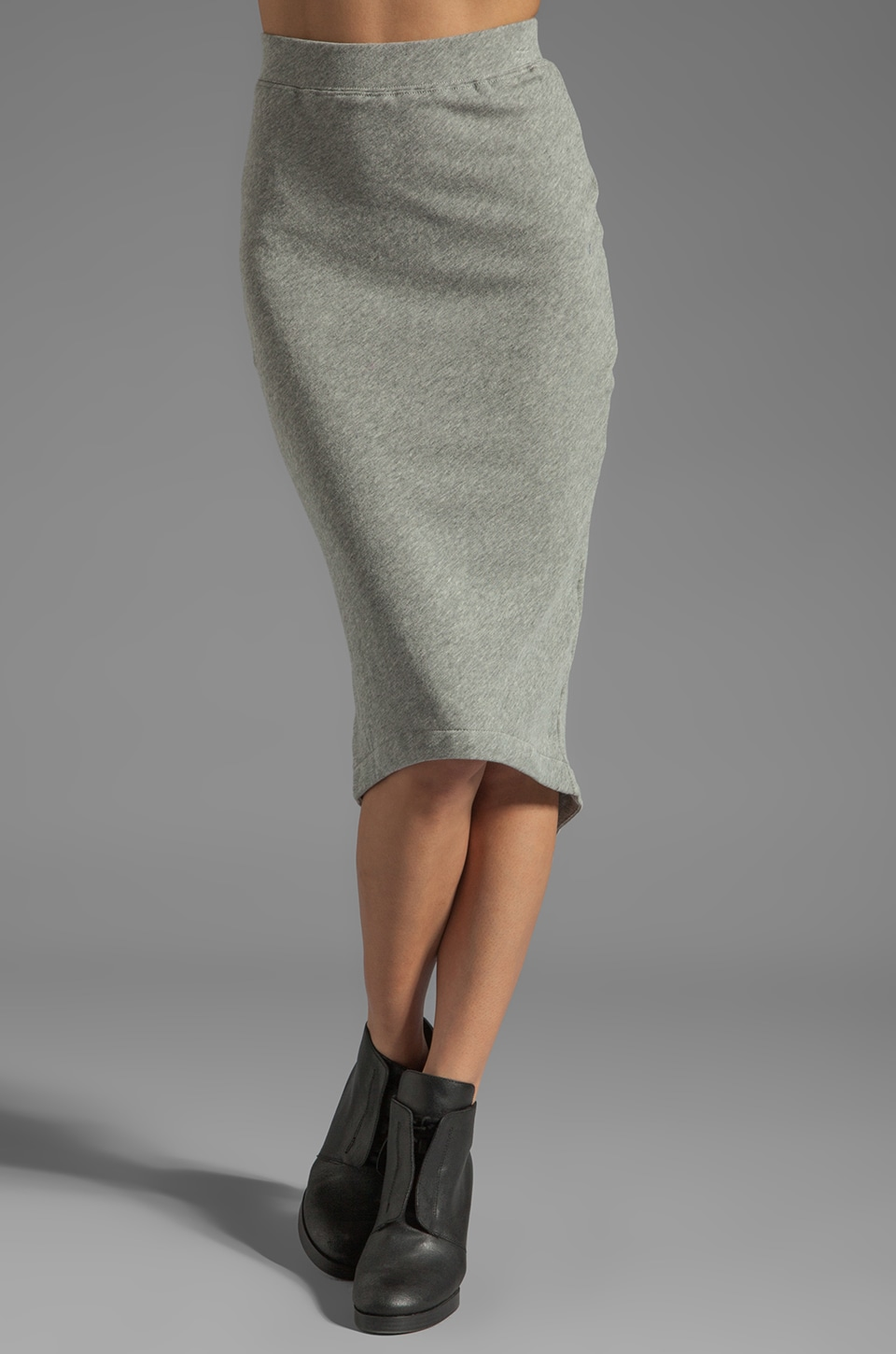 Funktional Overlapped Pencil Skirt in Grey-Scale