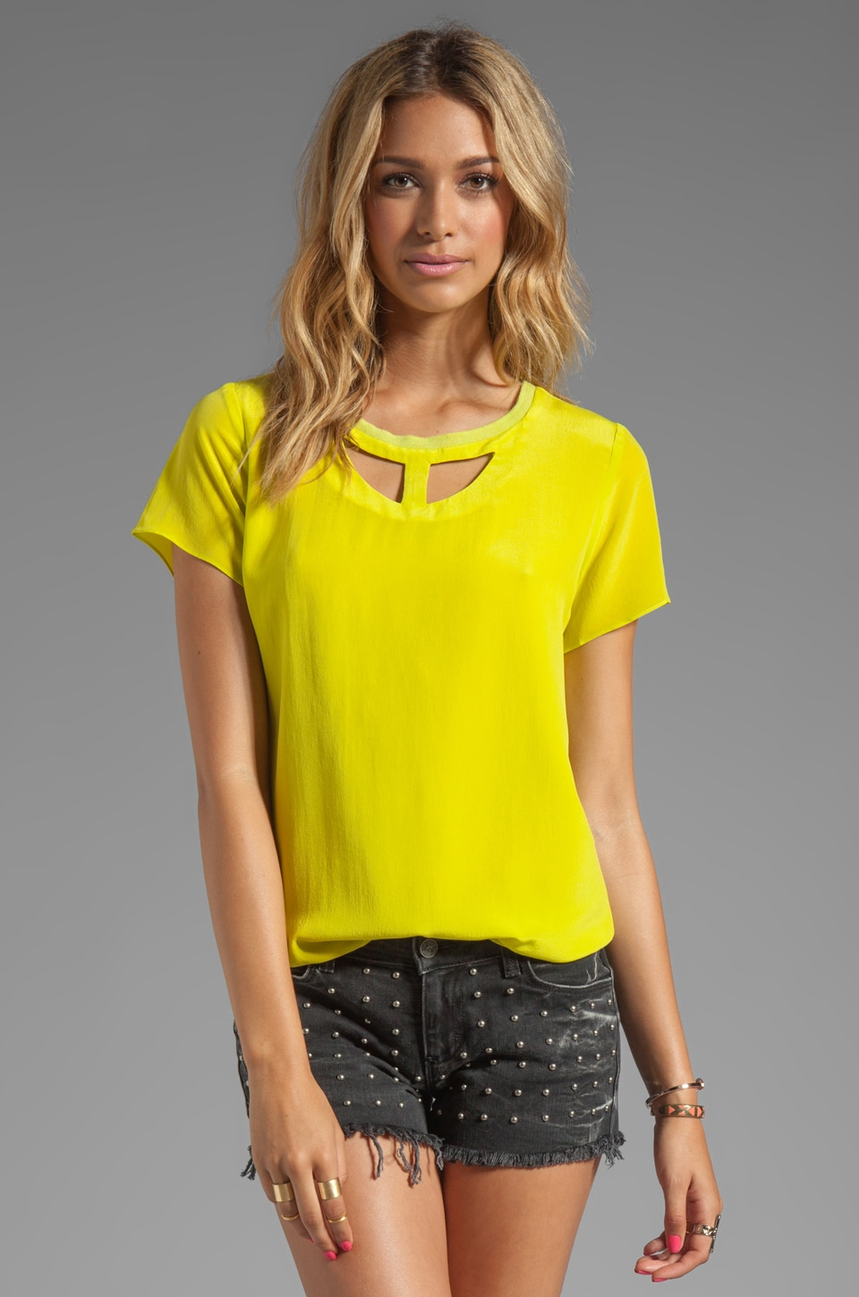 Funktional Lens Cut Out Front Top in Yuzu