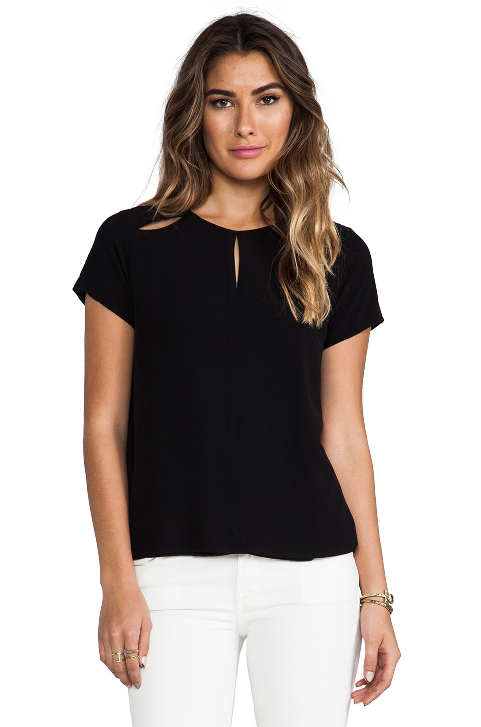 Funktional Linear Peek Through Top in Black