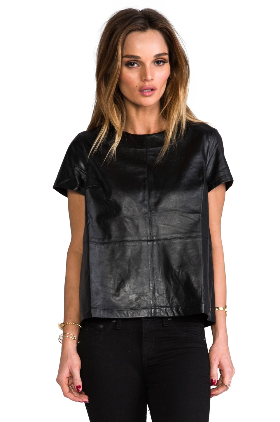 Funktional Atomic Leather Panel Top in Black