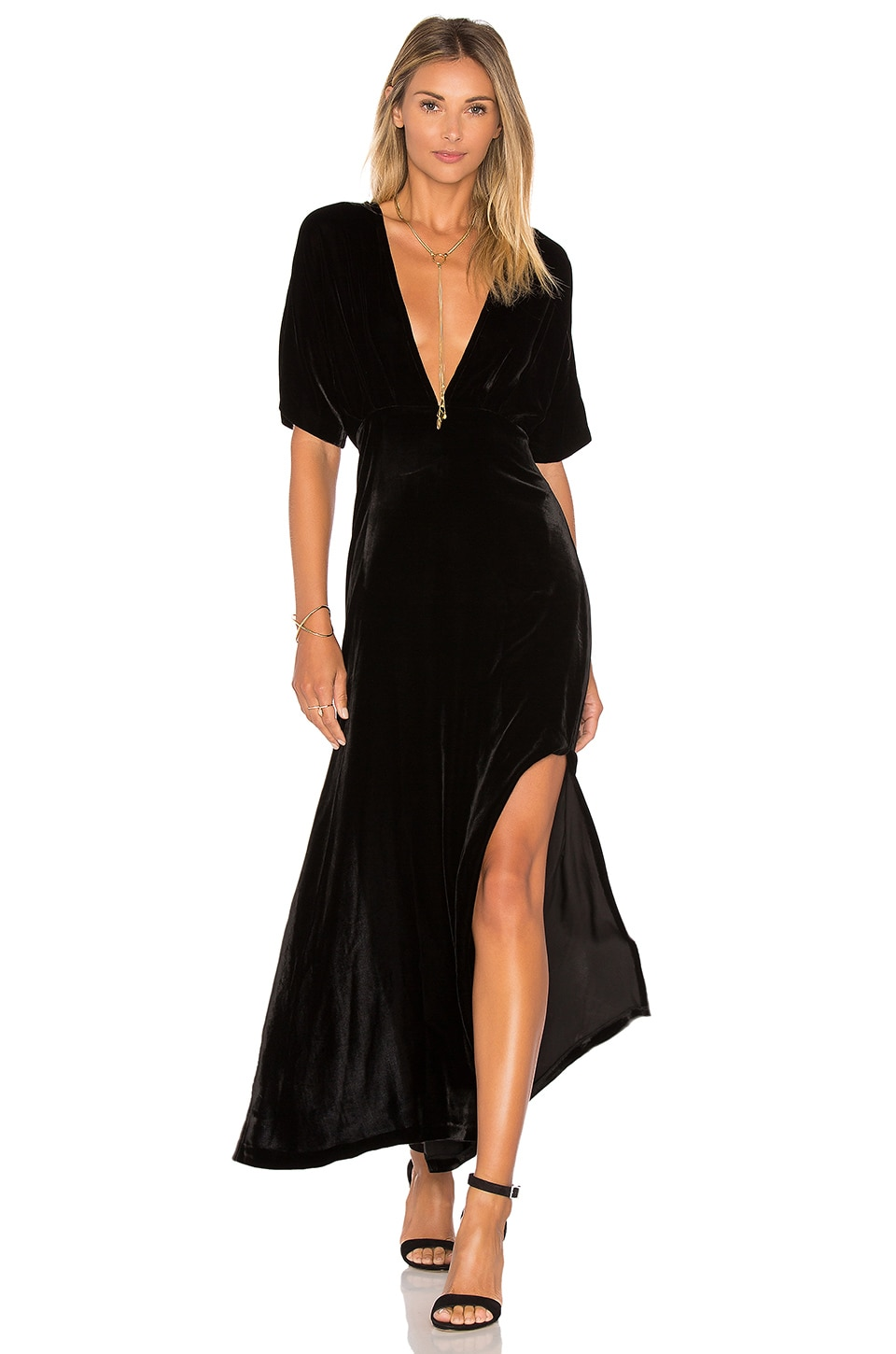 Hayden Velvet Maxi Dress by Ganni