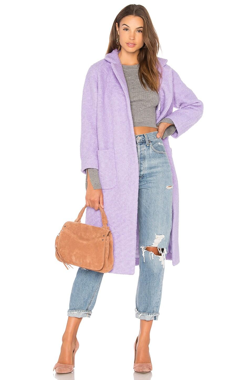 Ganni Fenn Coat in Pastel Lilac