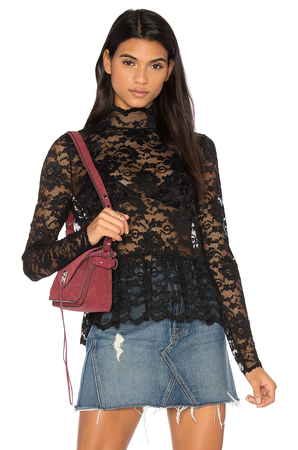 Flynn Lace Top by Ganni