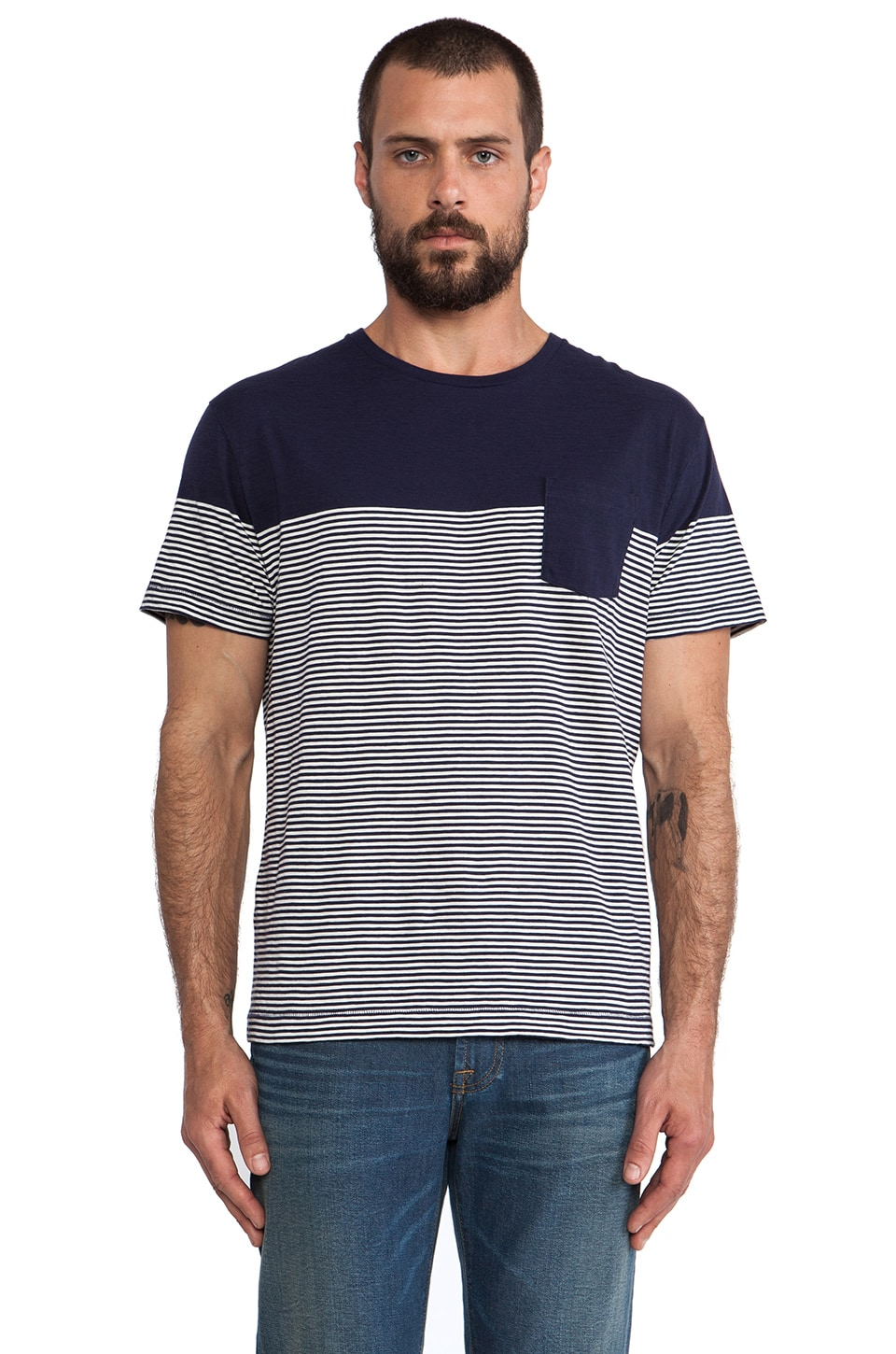 Gant Barstripe T-Shirt in Cream
