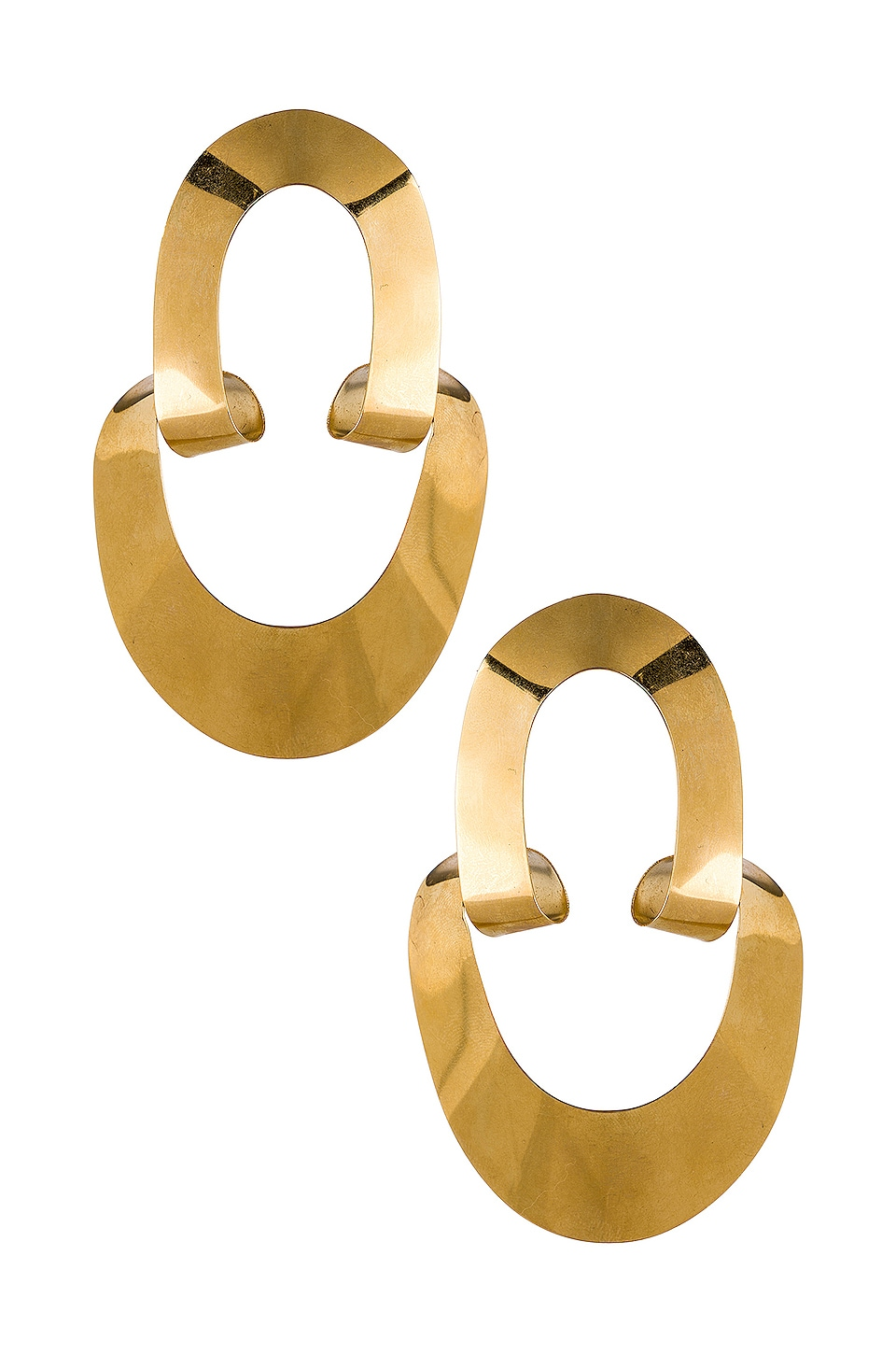 Gaviria Large LSD Earrings in Gold