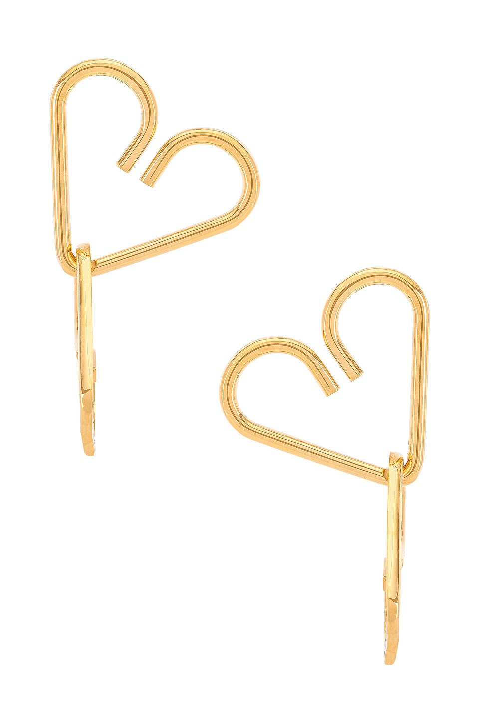 Gaviria Heart Earrings in Gold