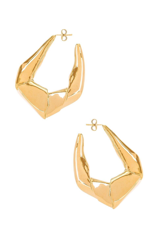 Gaviria Large Trash Earrings in Gold
