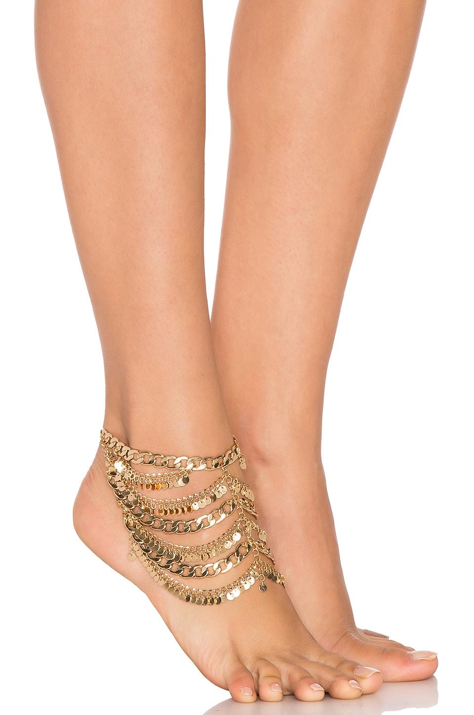 Grace Bijoux Tynuska Anklet in Gold
