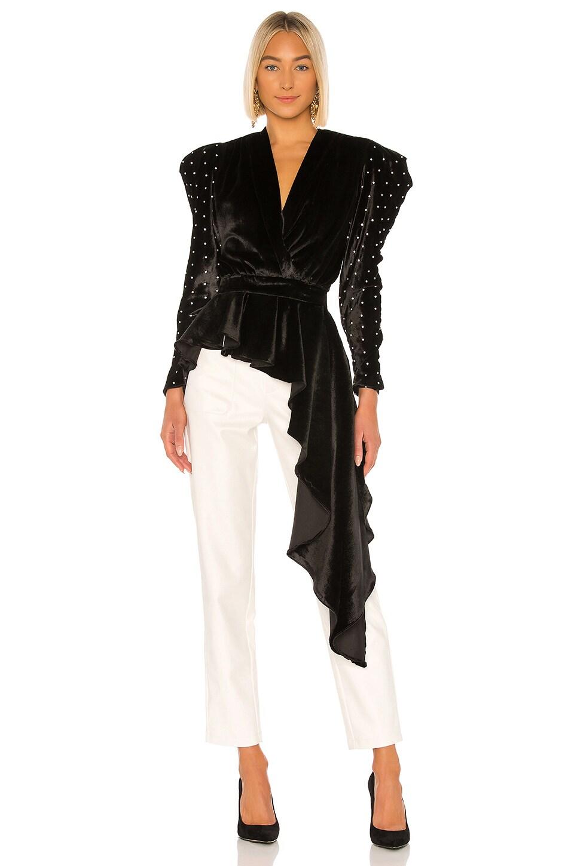 GIUSEPPE DI MORABITO Asymmetrical Blouse in Black