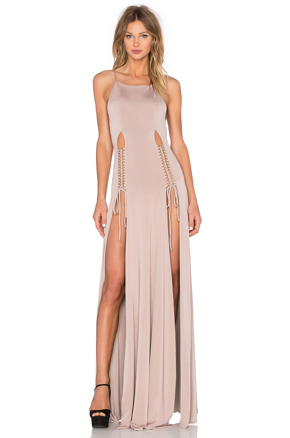 Gemeli Power Qadriyya Dress in Blush Nude