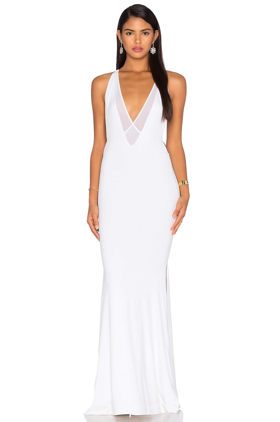 Gemeli Power Dupeyroux Jersey Gown in White