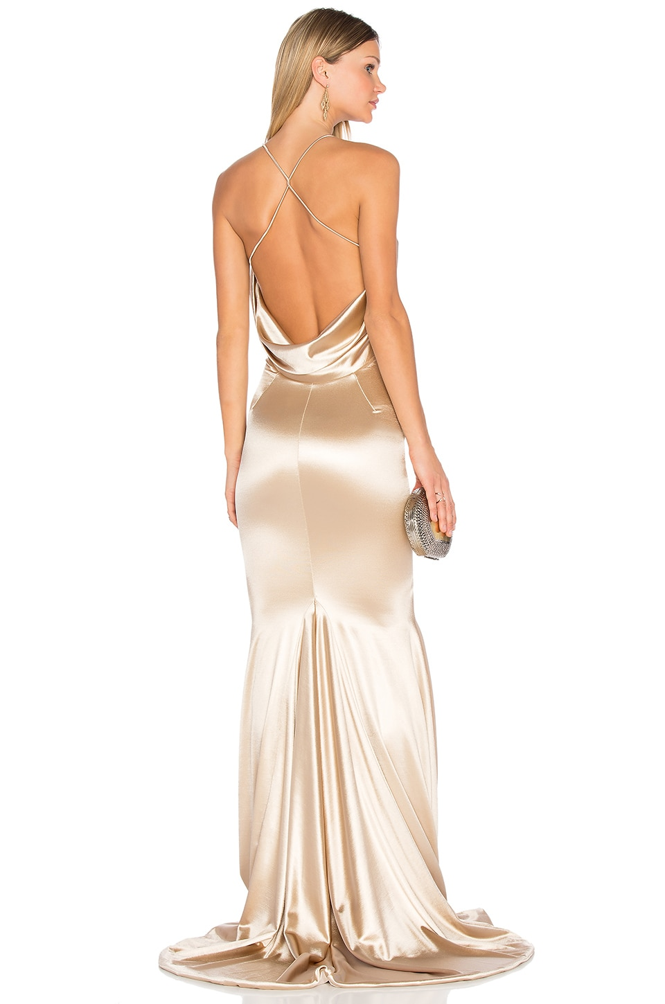 Gemeli Power Barthelemy Gown in Light Champagne Gold