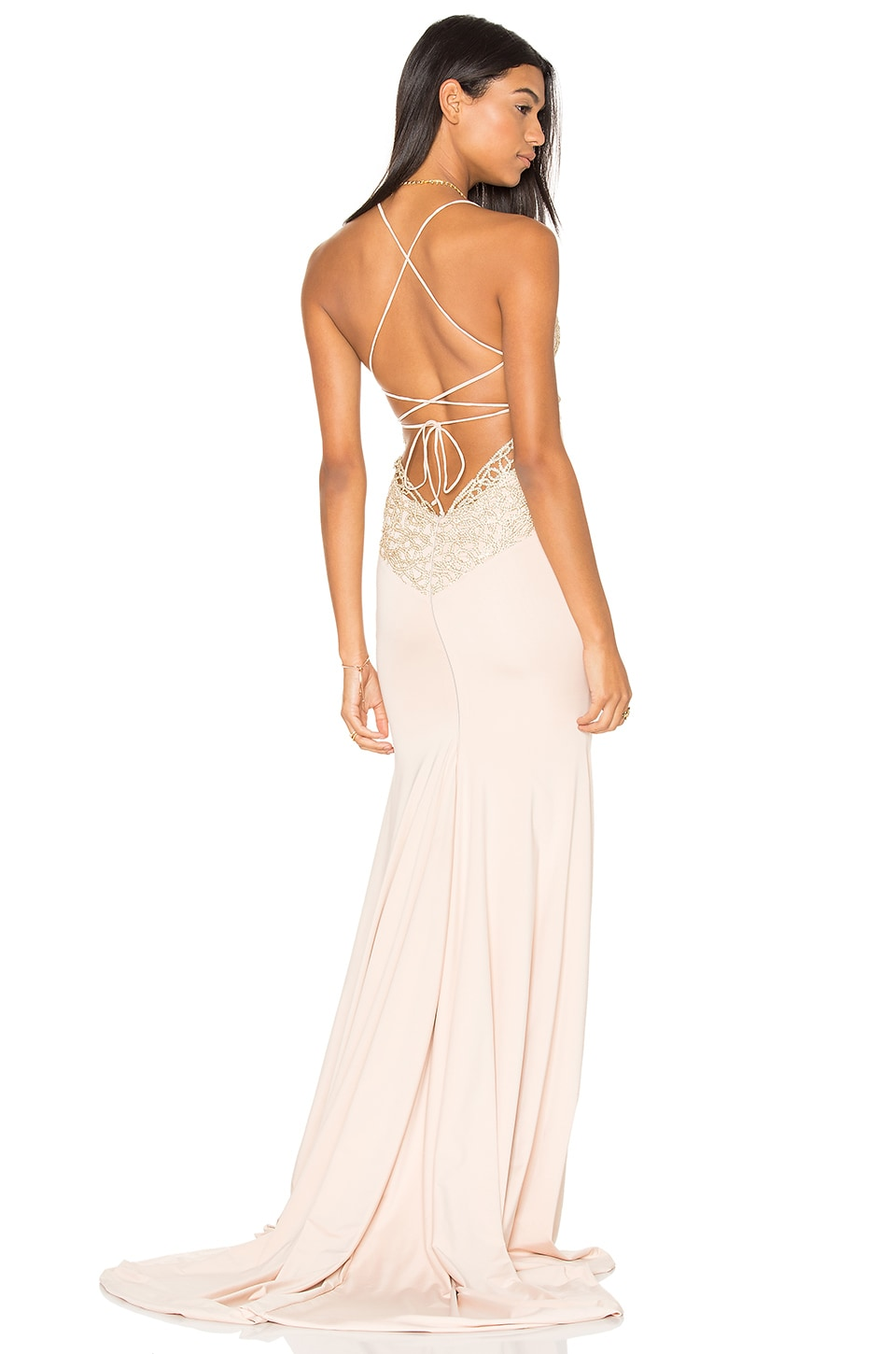 Gemeli Power Jay & Co Gown in Gold Blossom