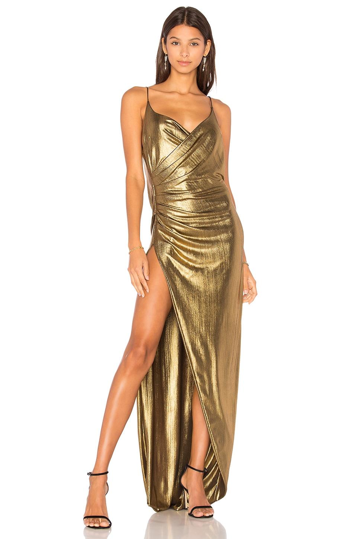 Gemeli Power Kotahi Gown in Vintage Gold | REVOLVE