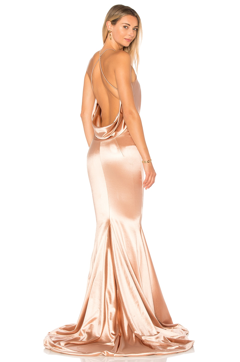 Satin Barthelemy Gown by Gemeli Power