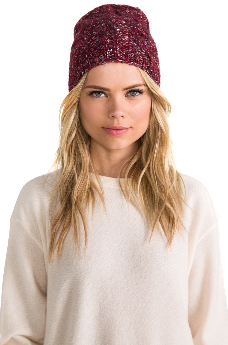 Genie by Eugenia Kim Kate Beanie in Burgundy/Multi