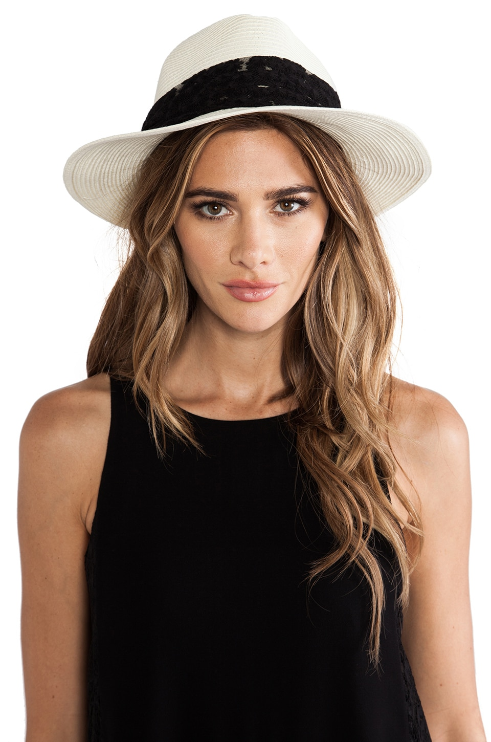 Genie by Eugenia Kim Wide-Brimmed Fedora in Ivory