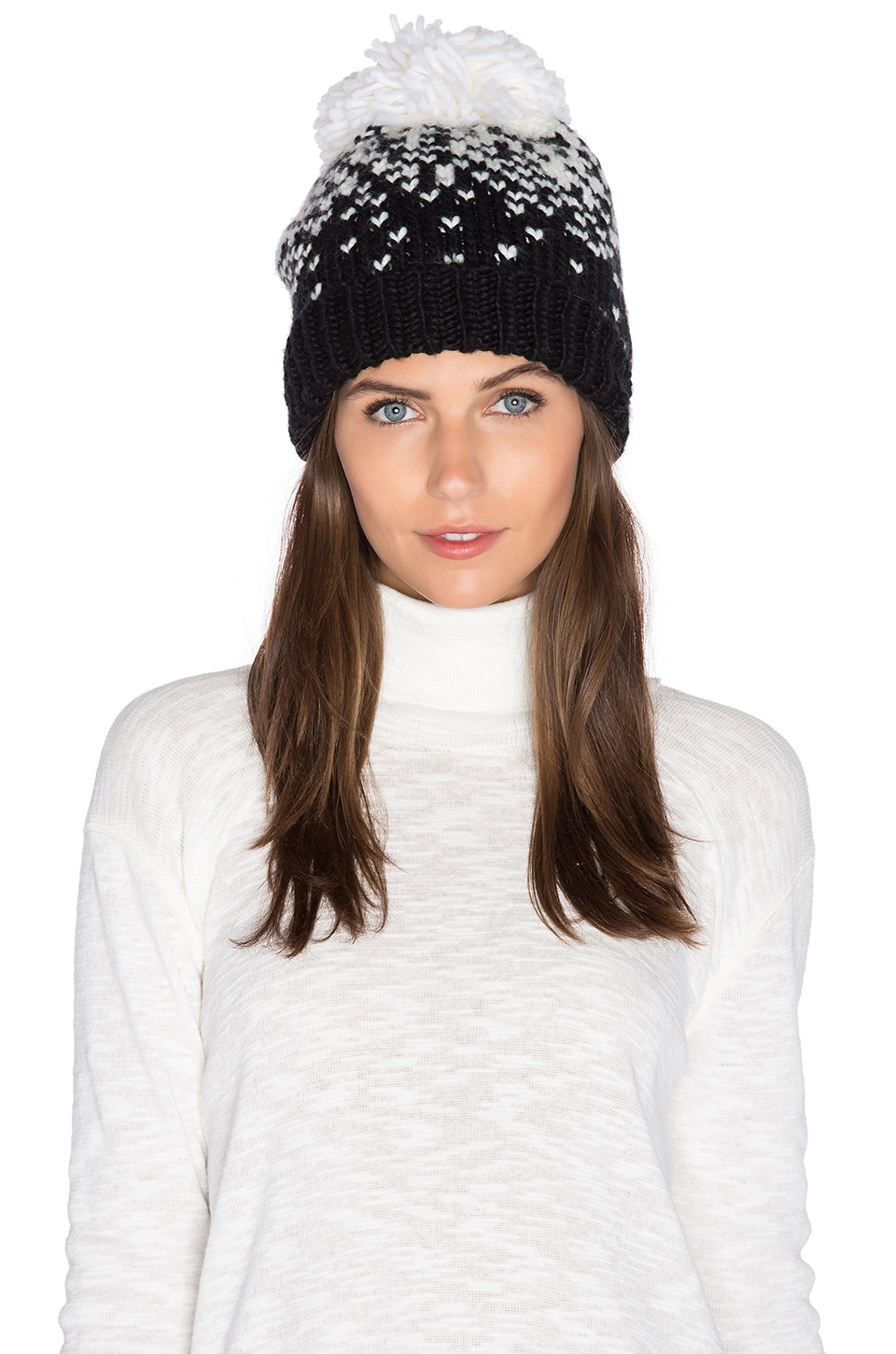 Genie by Eugenia Kim Brady Beanie in White & Black