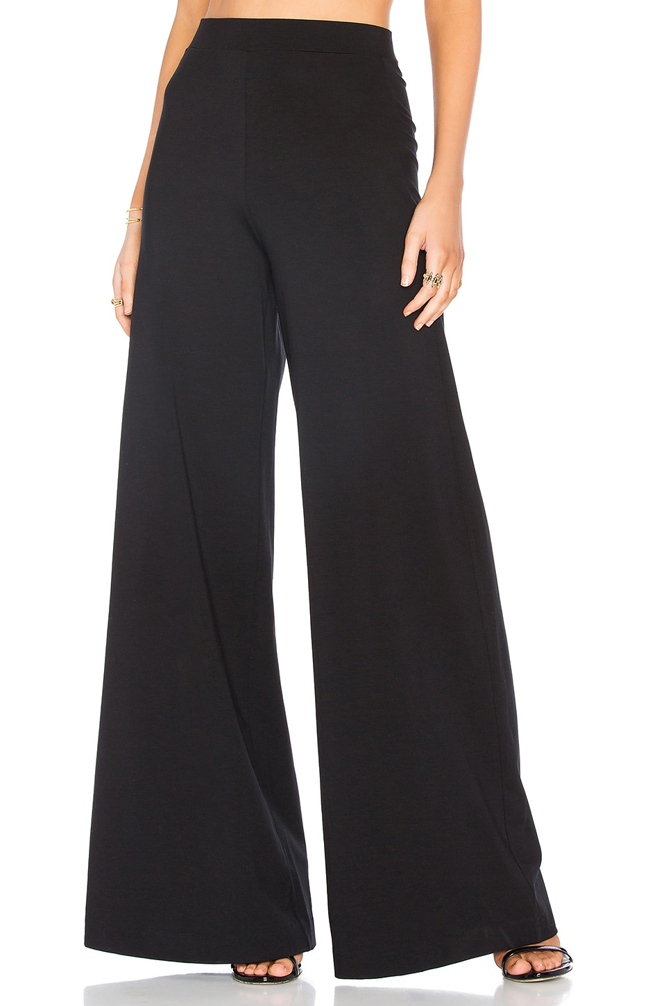 GETTINGBACKTOSQUAREONE The High Rise Palazzo Pant in Black
