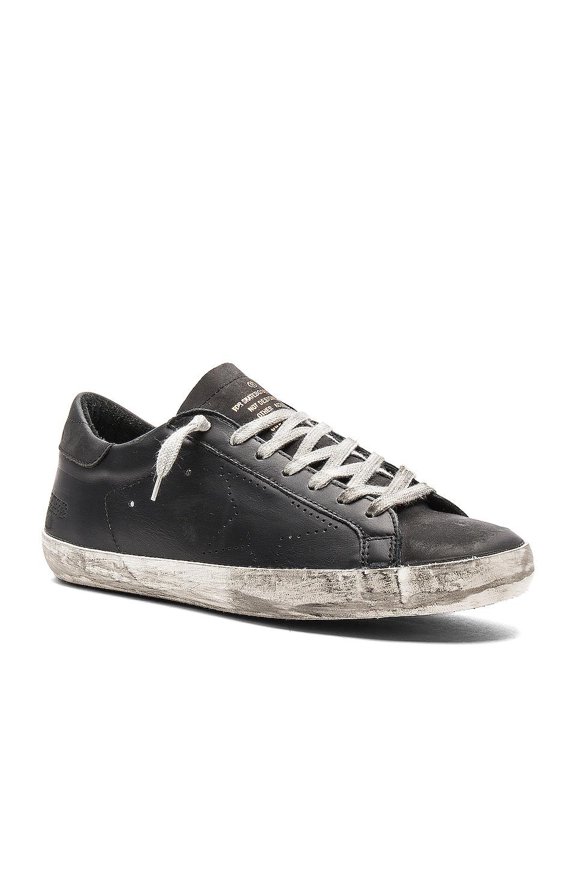 Golden Goose Superstar Leather Sneakers in Black