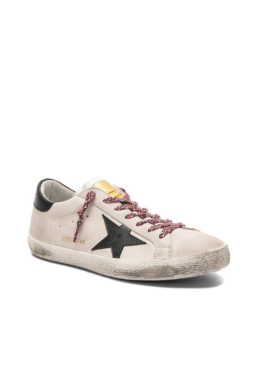Golden Goose Superstar Sneakers in Snow & Black Star