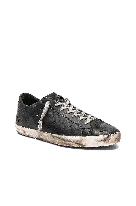 Golden Goose Superstar Sneakers in Black Skate