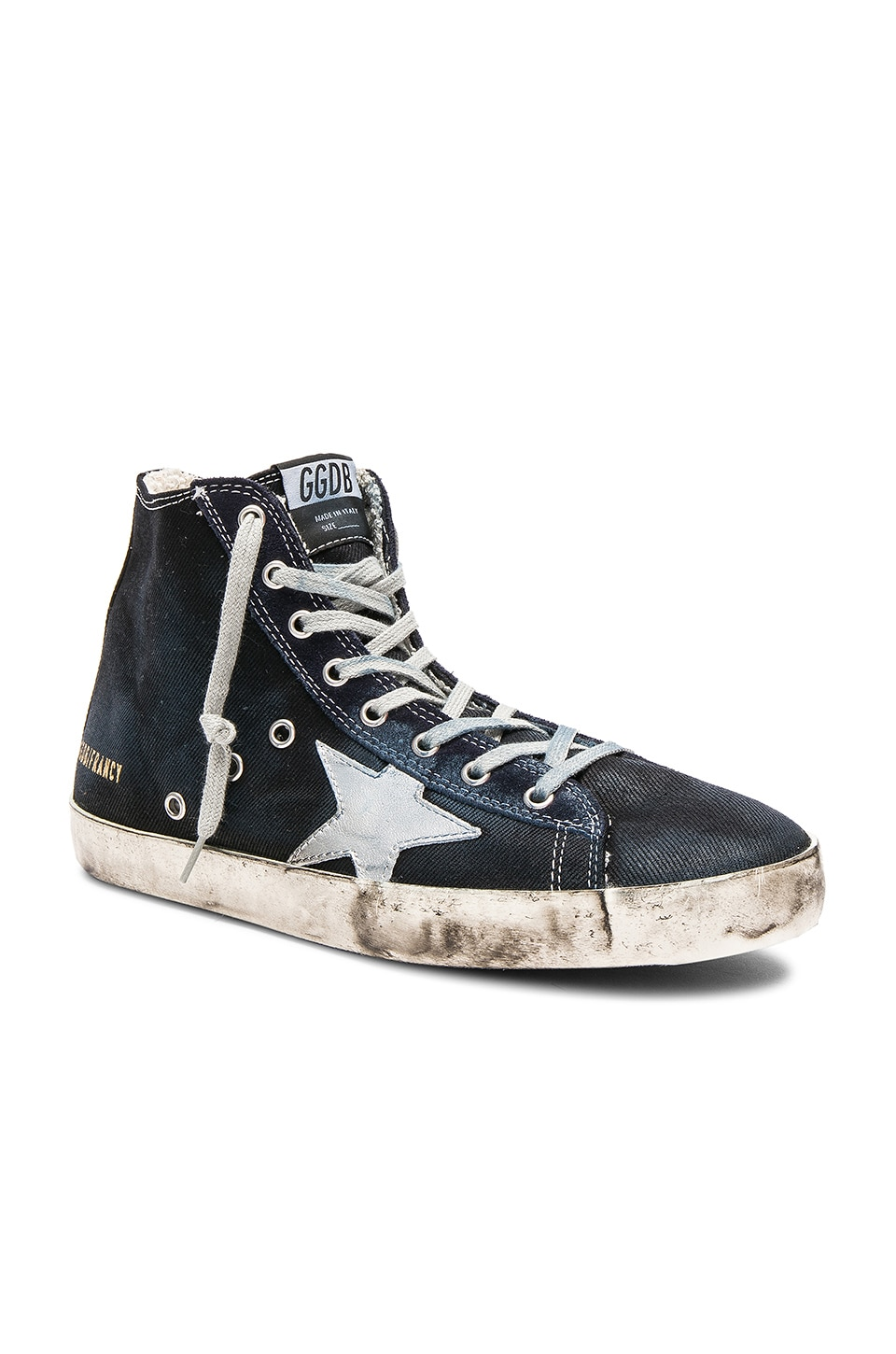Golden Goose Francy Sneakers in Navy Denim