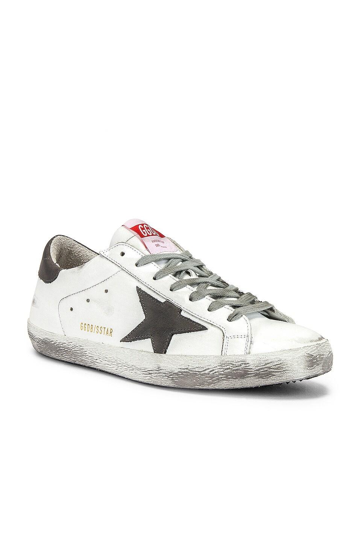 Golden Goose Superstar Sneaker en White & Grey Nubuck Star