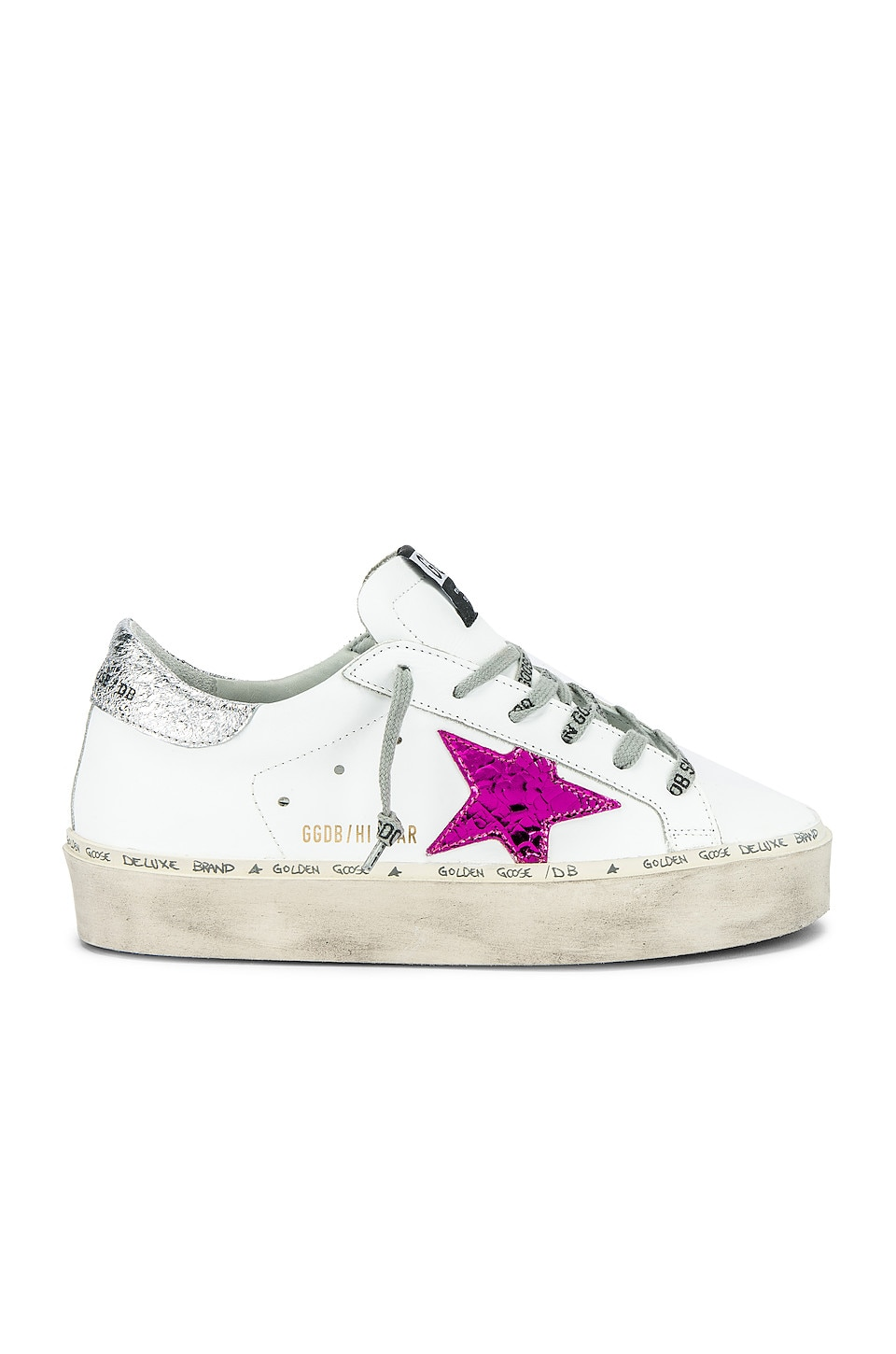 golden goose white and pink