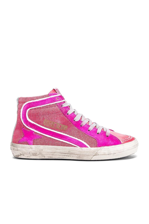 golden goose pink boots