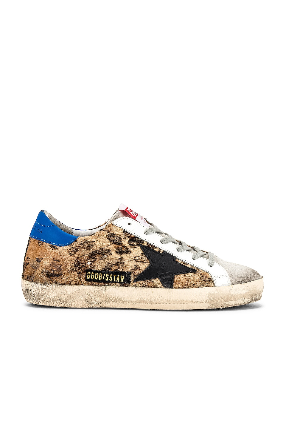 Golden Goose Superstar Sneaker in Snow Leopard & Royal