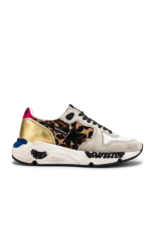 Golden Goose Running Sole Sneaker in Oxy Leopard & Black