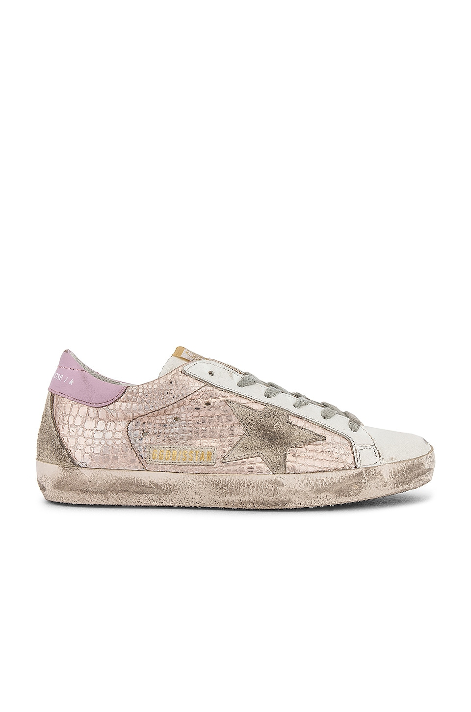 Golden Goose Superstar Sneaker in Gold Laminated Cocco & Ice Star