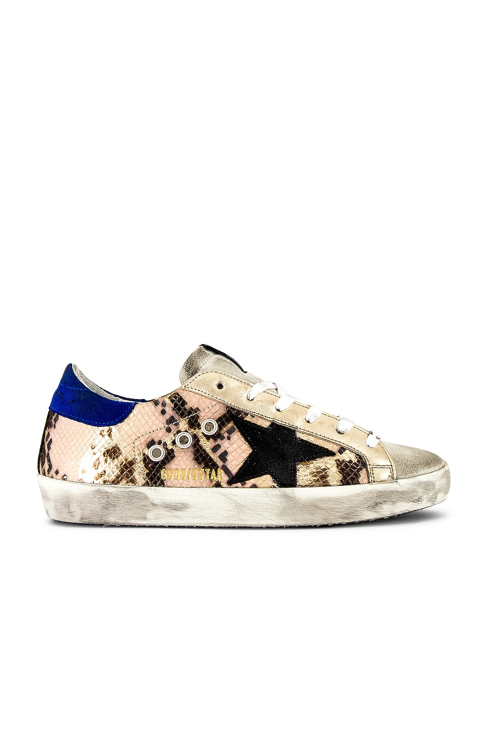 Golden Goose Superstar Sneaker en Python & Black Star