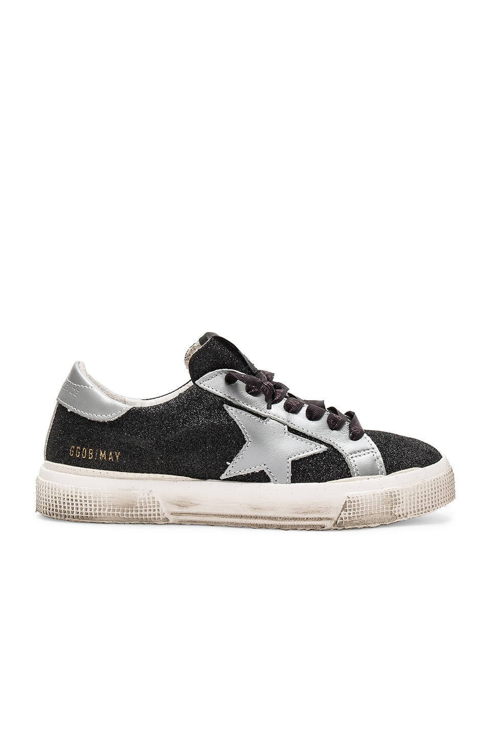 Golden Goose May Sneaker in Black Glitter
