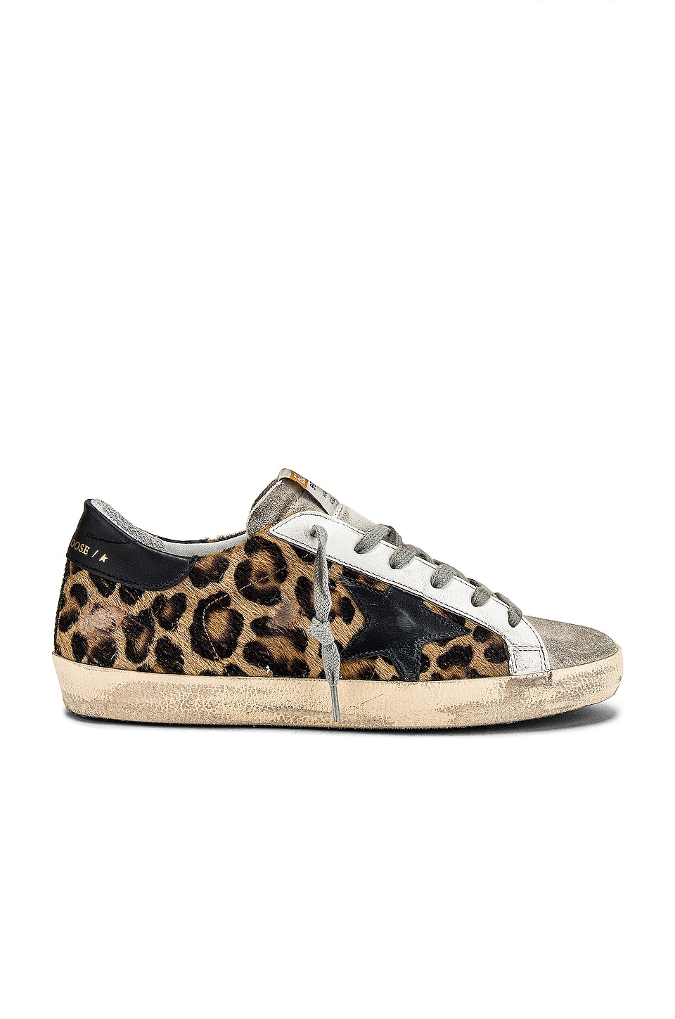 Golden Goose Superstar Sneaker in Snow Leopard & Black Star