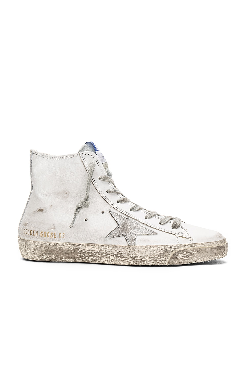 Golden Goose Francy Sneaker in White Silver Leather
