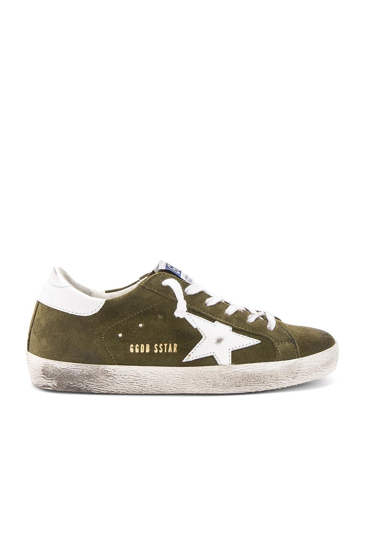 Golden Goose Superstar Sneaker in Olive