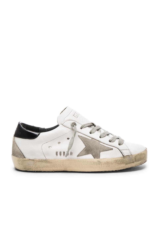 Golden Goose White & Black Superstar Sneakers SFlKGGSE