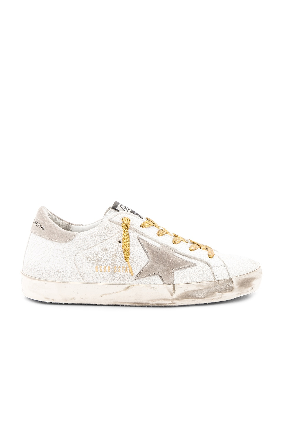 Golden Goose Superstar Sneaker in White Crash Leather