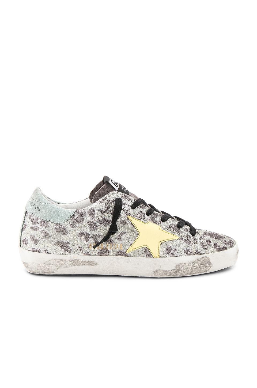 Golden Goose Superstar Sneaker in Glitter Leopard