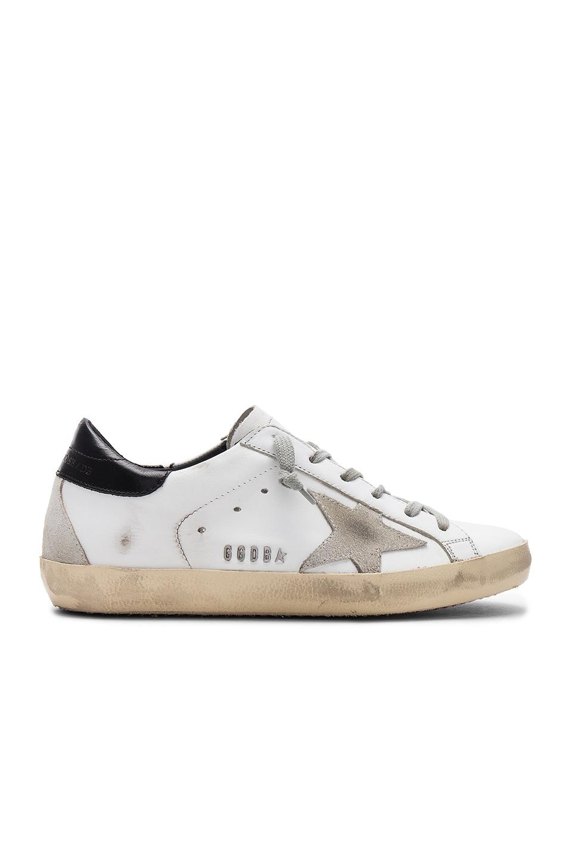 Golden Goose Superstar Sneaker in White, Black & Cream Metal