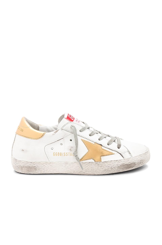 Golden Goose Superstar Sneaker in White Leather & Gold Star