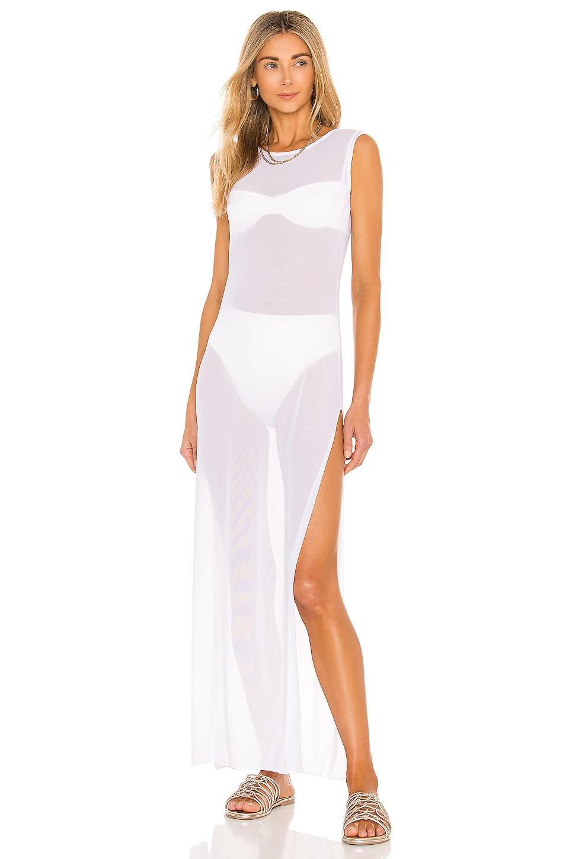GIGI C Terri Coverup Dress in White