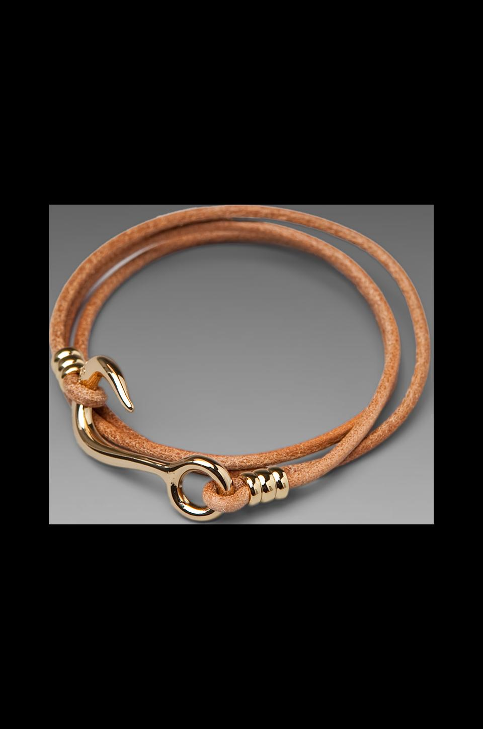 Giles & Brother Hook Wrap Bracelet in Gold