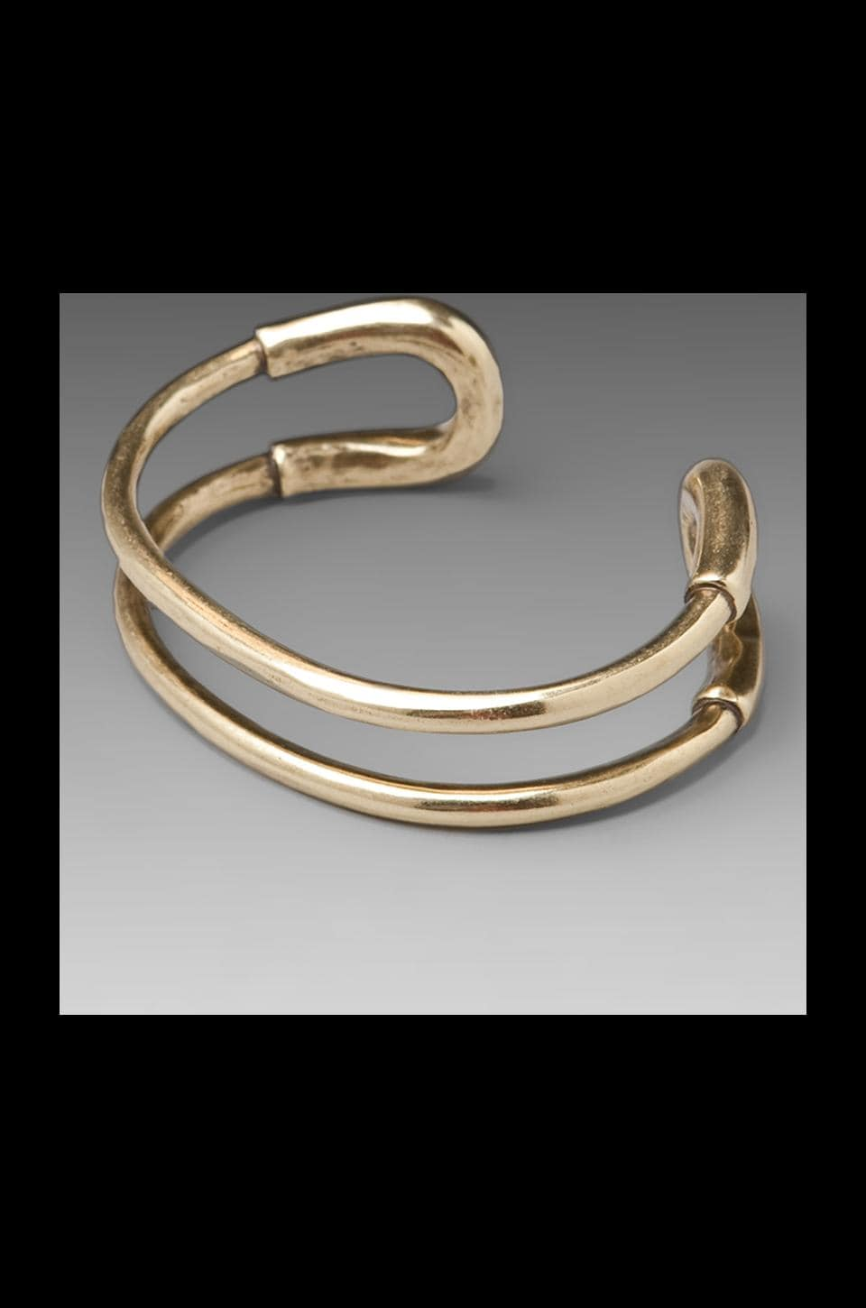 Giles & Brother Skinny Cortina Cuff in Brass