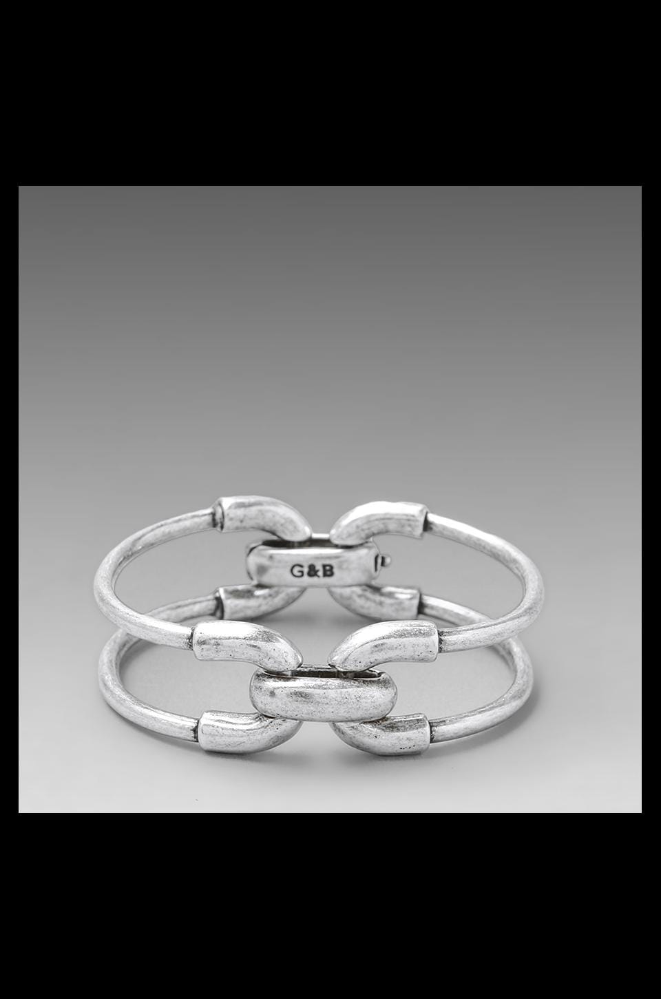 Giles & Brother Giles Double Cortina Bracelet in Antique Silver