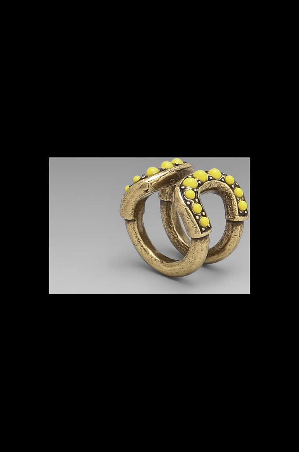 Giles & Brother Giles Cortina Cab Ring in Brass Ox & Citron