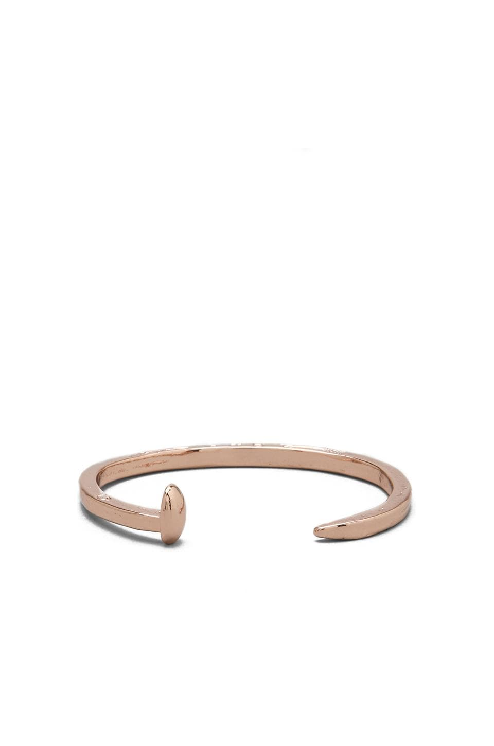 Giles & Brother Skinny Railroad Spike Cuff in Rose Gold Finish