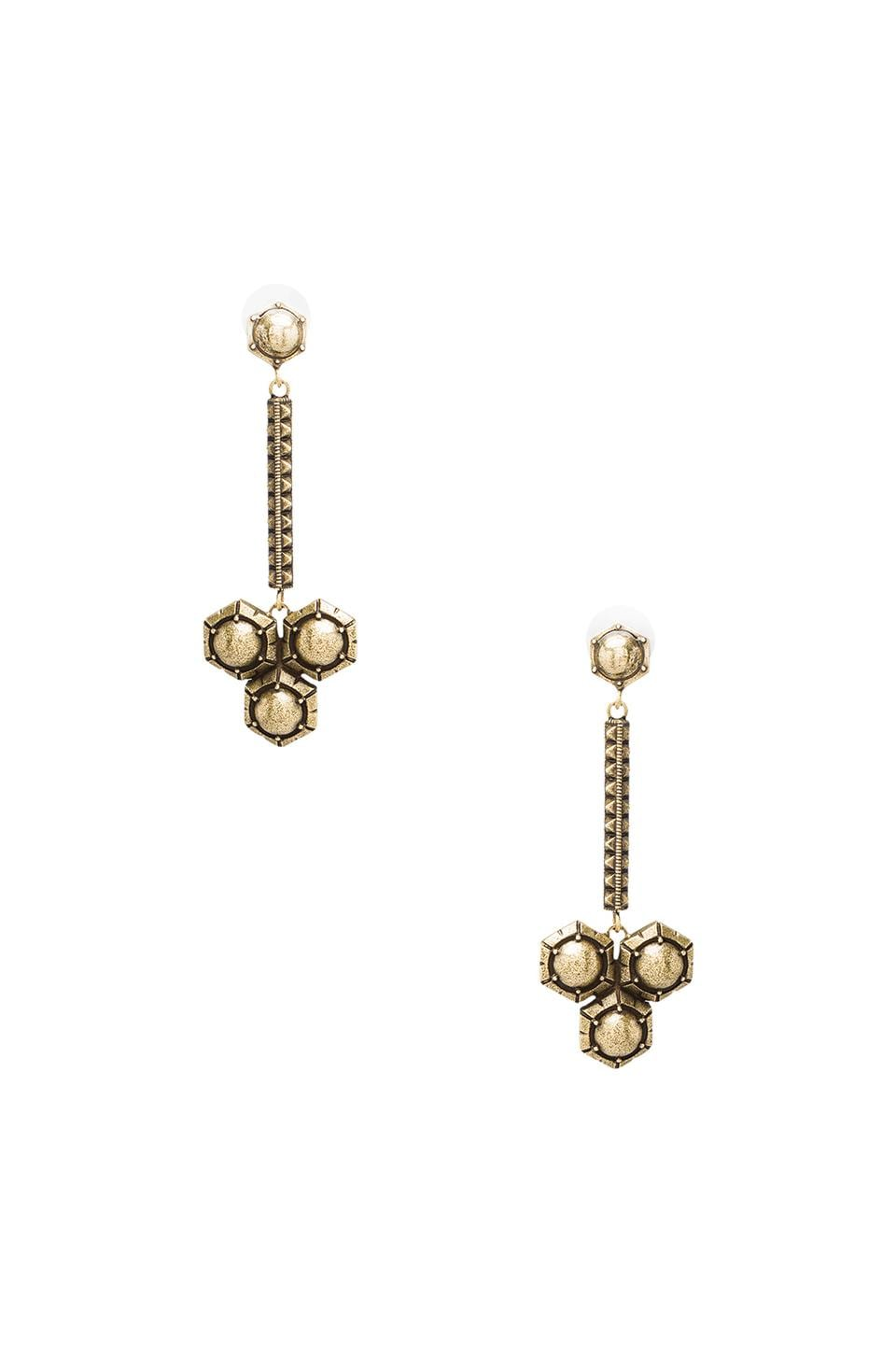 Giles & Brother Hex Dangle in Antique Brass